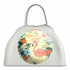 You are Unique Flowers Flamingo White Metal Cowbell Cow Bell Instrument