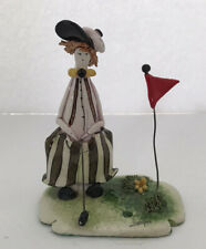 Zampiva Golfer Clown Figurine. Made In Italy