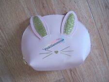 New Too Faced Pink Cool Not Cruel Bunny Makeup Bag Purse 100% Authentic