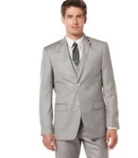 Perry Ellis Portfolio Textured Grey Suit $500 44R 36 X 32 NWT