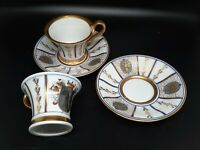 "Thomas Bavarian China demitasse cups/saucers 2 SETS ""Basel"" mint condition"