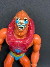 He-man masters of the universe Beast man 8 back white dot eyes vintage rare motu