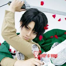 attack on titan Levi Rivaille cosplay costume wig