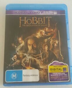 The Hobbit The Desolation Of Smaug 2 Disc Blu-Ray + DVD Ian McKellan