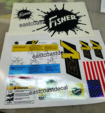 Fisher EZ-V Snow Plow Decals 10 pc STICKER Kit Safety Instructions ready n stick