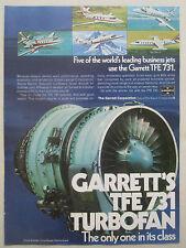 6//1971 PUB GARRETT AIRESEARCH TFE 731 TURBOFAN ENGINE ORIGINAL AD