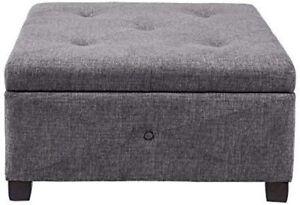 Madison Park Aspen Button Tufted Storage Ottoman