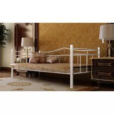 Hot Bett Metallbett 90 x 200 cm mit Memory-Schaum-Matratze weiß F5E2