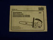 Original Ersatzteilliste Solo 610 VA Motorsäge - Rarität
