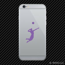 (2x) Mens Volleyball Cell Phone Sticker Mobile Serve Silouette many colors