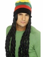 Rasta Wig and Tam Beanie Hat Dreads Long Hair Jamaican Costume Dreadlocks Adult