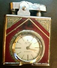 Vintage Gisa Lighter w/ Deluxe Gisa swiss pocket watch clock