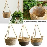 Seagrass Hanging Planter Plant Pot - Eco Friendly House Plant Succulent Basket
