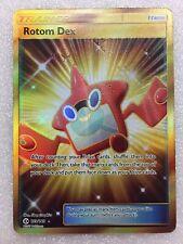 Rotom Dex 159/149 Gold Holo Full Art Secret Rare Pokemon Sun and Moon Base Set