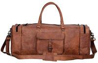 "Genuine 30"" Leather Duffle Weekend Travel Gym Overnight Bag Luggage Holdall"