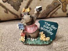 "Zoo Crew - Hippo Hippopotamus Resin Figurine - ""The Diet Starts Monday"""