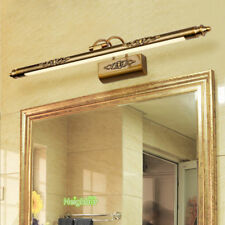 European Style Led Swing Arm Bathroom Light Cosmetic Mirror Lamp Retro Wall Lamp