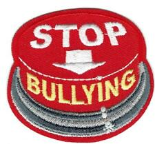 Boy Girl cub STOP BULLYING class Red Fun Patches Crests Badges GUIDES SCOUT