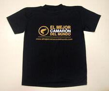 Shrimp, Best Camarón in the World T-Shirt, Men's Medium, Spanish Black Ecuador