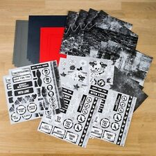 """Lelli-Bot Crafts ~ Gothic Grunge ~ 8"""" x 8"""" Papercrafting Pack x 36 sheets"""