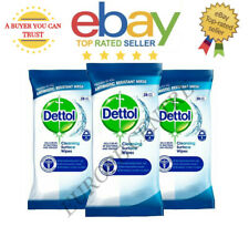 3x Dettol 28s Cleansing Surface Wipes