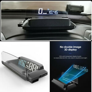 Car HUD Head Up Display Over Speed Warning GPS Speedometer Projector Safe