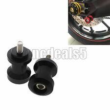 FXCNC 8mm Swingarm Spools Sliders Black For HONDA CBR600F4i 01-06 CBR600RR 03-14