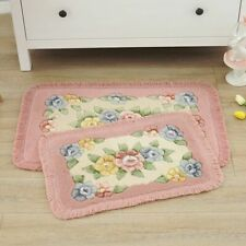 Home Non Slip Entrance Floral Floor Mat Rug Bed Kitchen Bathroom Toilet Carpet