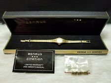 Benrus Citation Quartz Ladies Watch with Extra Links