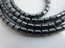 Hematites Tubo Columna Beads De 5mm X 4mm Negro No Magnético (aprox 51 Cuentas)