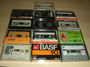 13 x Used Joblot Bundle of Cassette Tapes TDK BASF PYRAL All Recorded On