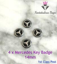 4 x Mercedes Benz Car Key Fob Remote Badge Logo Emblem SELF ADHESIVE Sticker