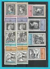 Antigua 1979 u. 1980 ** MiNr. 529-532 573-576 Barbuda Todestag Sir Rowland Hill