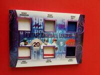 RICKY HENDERSON REGGIE JACKSON GEROGE BRETT MIKE SCHMIDT Jersey CARD #14/20 LEAF