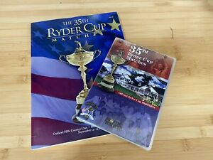 PGA Golf - 2004 35th Ryder Cup Program and DVD Highlights Disk - Mint Condition!