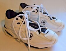 Converse ALL STAR CHUCK TAYLOR White Leather Sneakers Mens Shoes Size 8