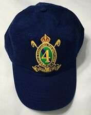 POLO RALPH LAUREN Gold Crest Chino Hat Sport Ball Cap Leather Strap HolidayNAVY