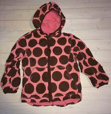 Spielen Mini Boden Rosa & Braun Dots Mantel Anorak Jacke Mädchen 5 6 kostenloser Versand