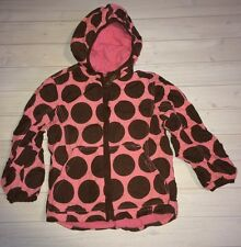 PLAY Mini Boden Pink & Brown Dots Coat Anorak Jacket Girls 5 6
