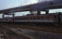 B&O Railroad Station PITTSBURGH PA Chrome Passenger Car Original Photo Slide