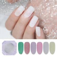 Holographicss Nail Powder Colorful Sandy Sugar Glitter Summer Nail Art Pigment