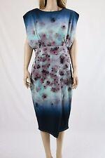 ASOS Multi Color Floral Blurred Women's Midi Scuba Dress UK SIZE 16 44