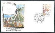 1980 VATICANO VIAGGI DEL PAPA BRASILE BRASILIA - RM1