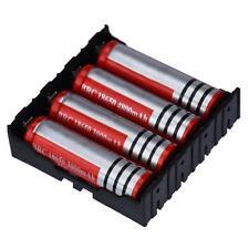 DIY Black Storage Box Holder Case For 4 x 18650 3.7V Rechargeable Batteries UK