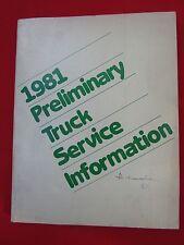 1981 Preliminary Chrysler Truck Factory Service Repair Manual