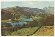 Postcard, Sanderson & Dixon, Elterwater Tarn and Langdale Pikes, Posted 1964