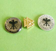 DFB-3 ALTE FUSSBALLPINS-dick,dünn und goldfarben-3 ALTE PINS VOM DFB- 16-FU 279