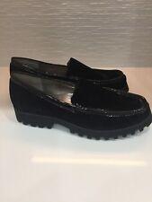 Donald Pliner Black Velvet   ROKO2-U Flat Shoes 8.5 NWT