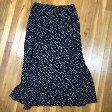 Denim & Supply Ralph Lauren Polka Dot Print Semi Sheer Maxi Skirt Large Silky