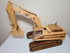 Caterpillar Cat 350 Excavator - Wooden Hand Made Wood Scale Model LARGE!